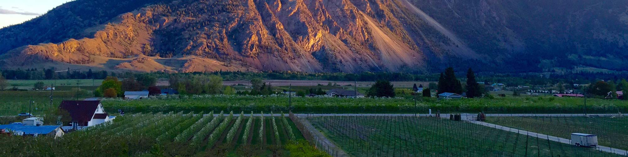 Evening sunset in Similkameen